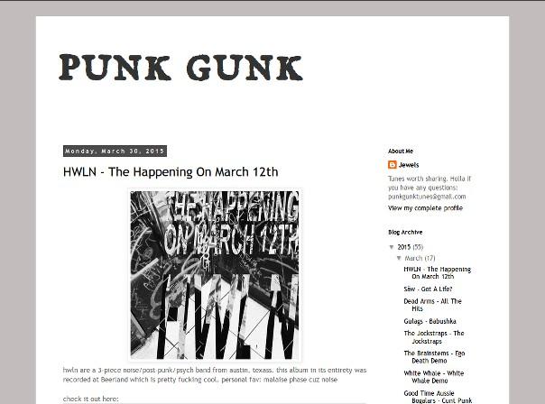 Blogempfehlung: Punk Gunk