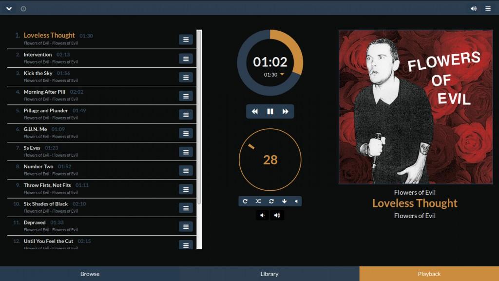 Die MoodeAudio Weboberfläche