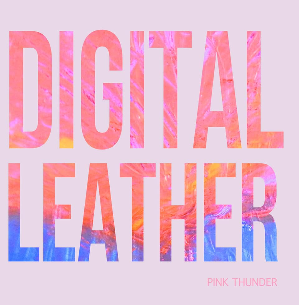 Digital Leather - Pink Thunder